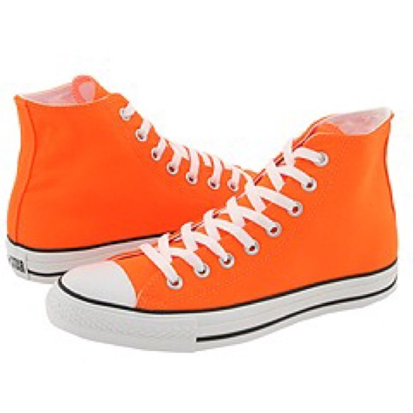 Converse authentic orange converse sneakers high tops for Orange colour things