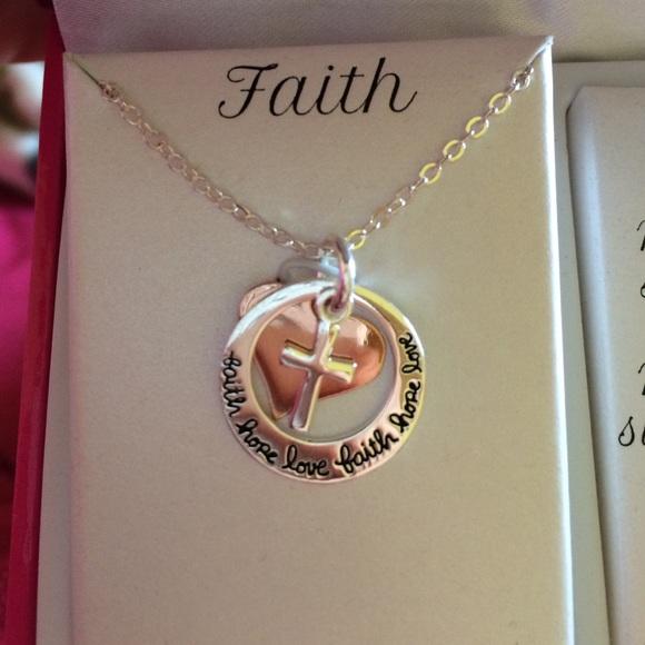 84 off larocks jewelry faith hope love necklace from for Faith hope love jewelry