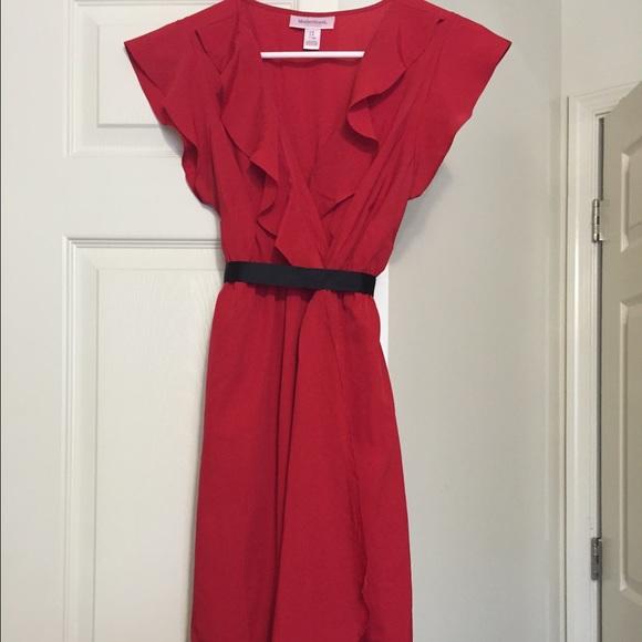 20692379b8d Red motherhood maternity polyester dress. M 55b7cf412cbedc2a910190fd