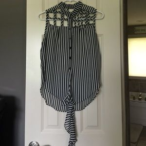 Poof Couture Tops - Striped top