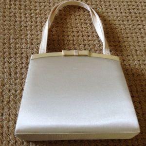 Handbags - Ivory satin bridal purse, never used. Beautiful!