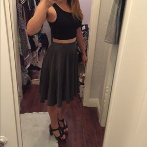 Dresses & Skirts - Gray Knee length full skater skirt