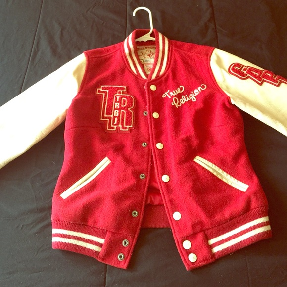 True Religion Red Leather Jacket True Religion Jackets
