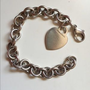 Authentic Tiffany and Co. Heart Bracelet
