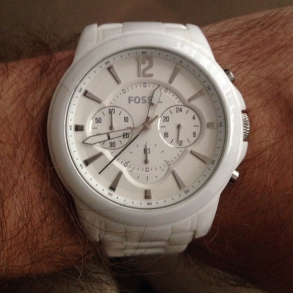 6a915e5ca Fossil Accessories | Mens White Ceramic Watch | Poshmark
