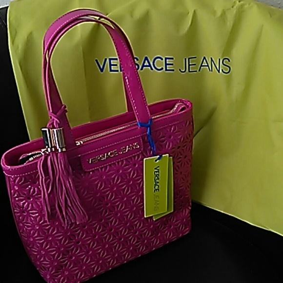 dde048ae96 VERSACE Jeans Pink Vernice Forata