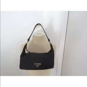90% off Prada Handbags - VINTAGE PRADA BLACK NYLON LEATHER SMALL ...