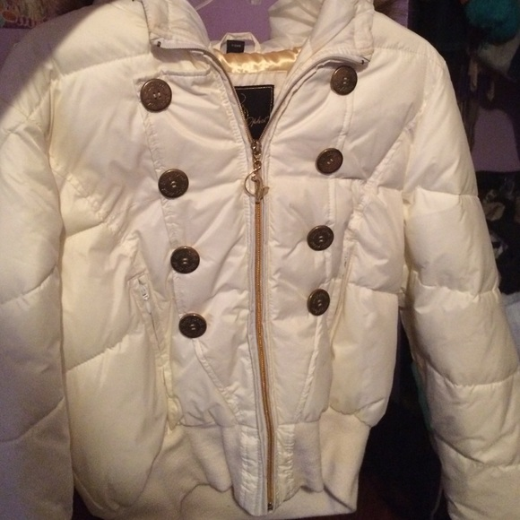 40 Off Baby Phat Jackets Amp Blazers White And Gold