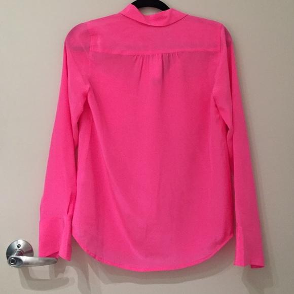 J Crew Hot Pink Silk Blouse 31