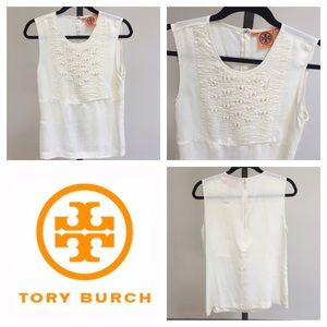 Tory Burch Tops - Like NEW Tory Burch Ivory Sleeveless Top! Sz 10