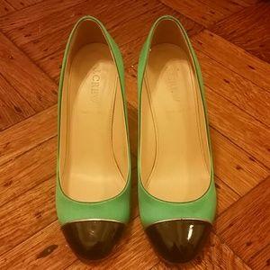 J. Crew Etta Cap Toe Heels 6 / 6.5