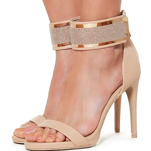 60% off Shoes - Sparkle Nude Strappy Heels from Natasha's closet ...