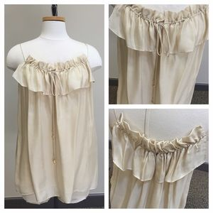 Milly Tops - Like NEW Milly Silk Ruffle Tank! Sz 10!