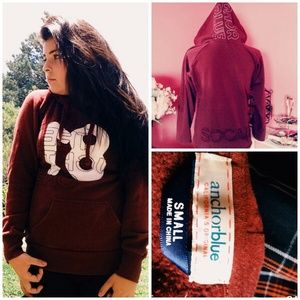 Anchor Blue Sweaters - ANCHOR BLUE MAROON HOODIE S