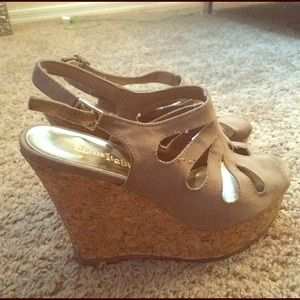 Shoes - Peep Toe Wedges
