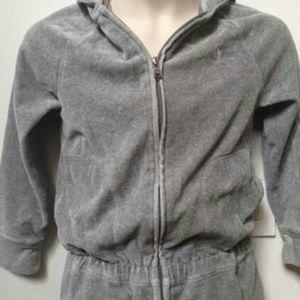 Jrs Ralph Lauren gray velour zip up jacket