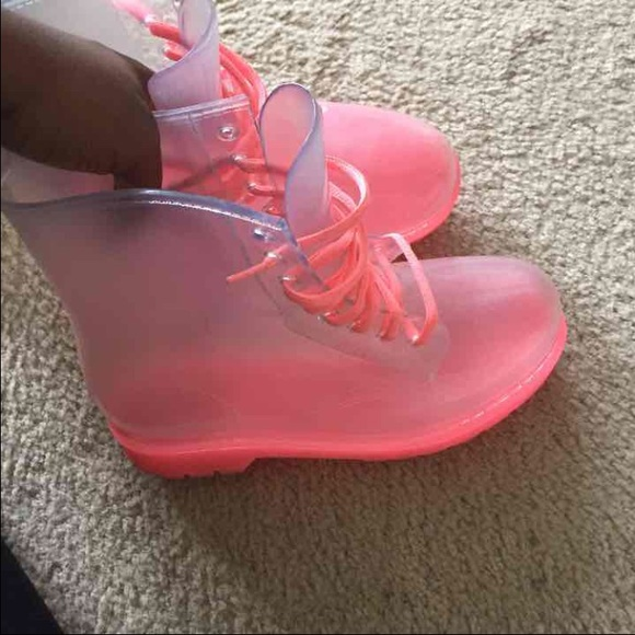 33% off Boots - See Through Rain Boots... ON HOLD from Krisyah's ...