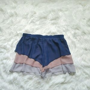 Pants - Multicolored layer shorts