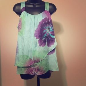 Axcess Tops - Floral print tank