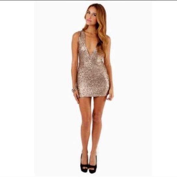 214de3dc006 Tobi Gold Sequin Dress. M 55b8520ec5e8903dd801da13
