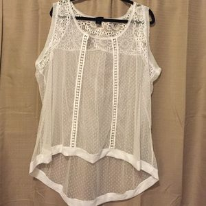 Brand new torrid chiffon lace tank white cream