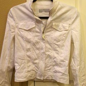 White cargo jacket