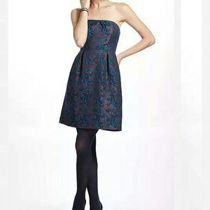 Anthropologie Paprika Brocade Dress