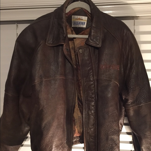 99% off California leather Outerwear - Very nice brown leather ...