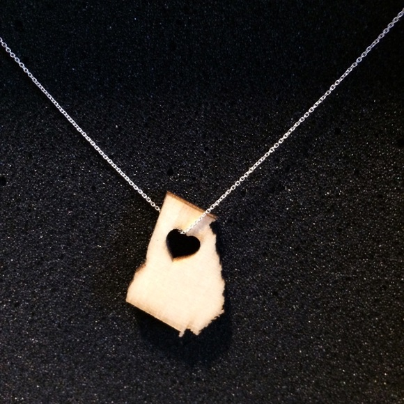 Jewelmint Jewelry - 🚫SOLD State of Georgia Wooden Pendant Necklace