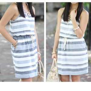 LOFT Lou & Grey Texture Stripe Dress