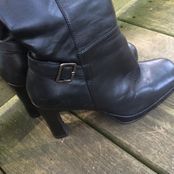 skechers sketchers black knee high boots size 9 from