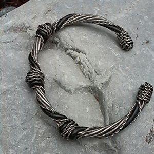 Black and silver bangle bracelet