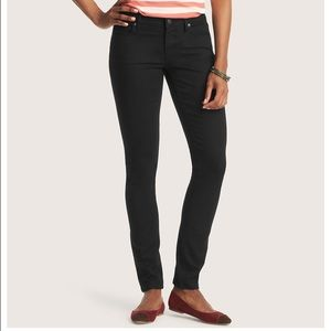 Loft curvy skinny jeans black