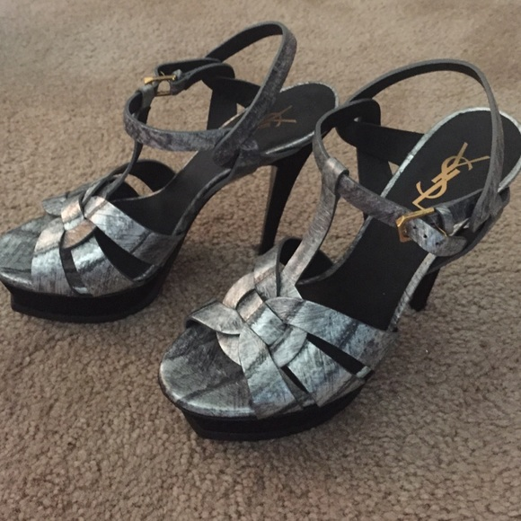 401cf9f132c Silver classic ysl tribute sandal