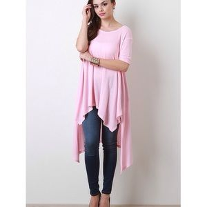 """Angel"" High Low Asymmetric Top"