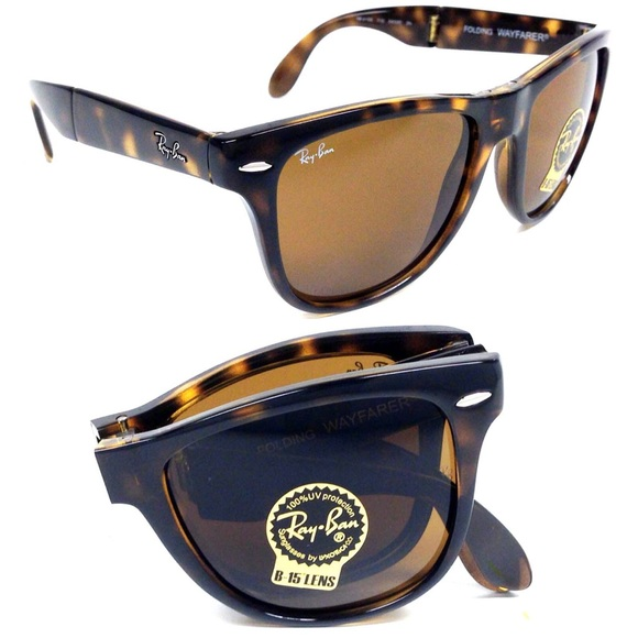 ray ban folding wayfarer tortoise sunglasses  ray ban accessories tortoise shell brown ray ban folding wayfarer