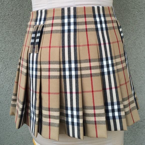 burberry burberry plaid pleated skirt from jarod s