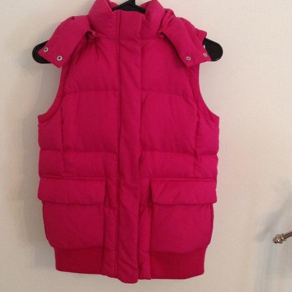 Gap Jackets Amp Coats Hot Pink Puffer Vest Poshmark
