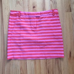 Orange and Pink Striped J. Crew Skirt