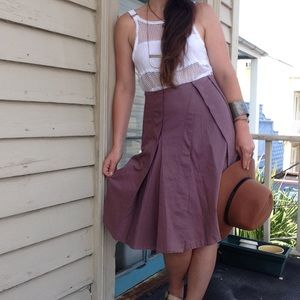 Anthropologie {Sitwell} Mauve Pleated Skirt