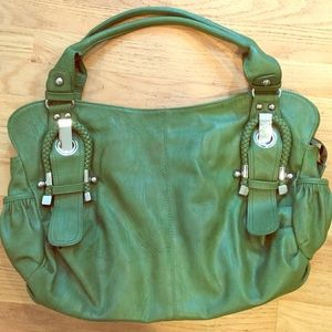Stylish large green bag