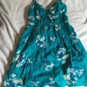 Teal Sundress with Cute Daisy Print