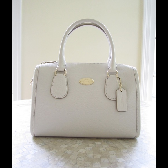 Coach - Coach Mini Bennett Satchel Purse Chalk White from ...