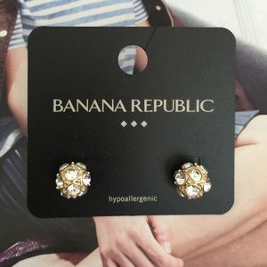 🍁SALE Banana Republic Crystal Ball Stud Earrings