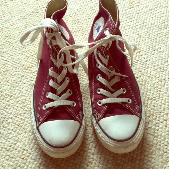 21d564077d3 Converse Shoes - Converse Chuck Taylor All Star burgundy hi tops 8