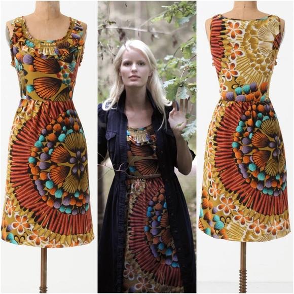 d9833ed100139 Anthropologie Dresses & Skirts - Anthropologie Lappula Dress silk Edme &  Esyllte