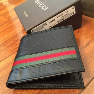 Authentic Black Leather Gucci Wallet