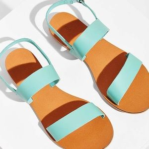 Brand new turquoise Urban Outfitters sandals