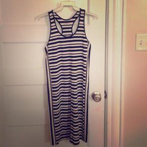 Ann Taylor loft striped black and white dress