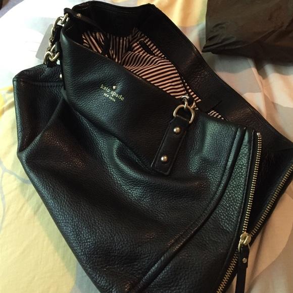 82% off kate spade Handbags - Kate Spade classic black leather ...